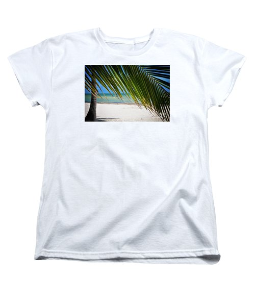 Women's T-Shirt (Standard Cut) featuring the photograph Key West Palm by Kelly Wade