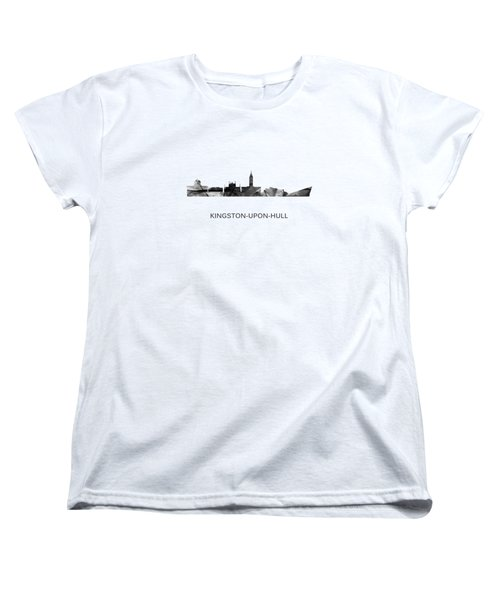 Kingston Upon Hull England Skyline Women's T-Shirt (Standard Fit)