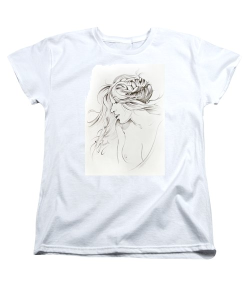 Kiss Of Wind Women's T-Shirt (Standard Cut) by Anna Ewa Miarczynska