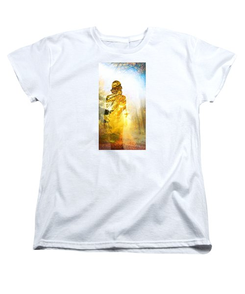 Lady Autumn Women's T-Shirt (Standard Cut) by Lilia D