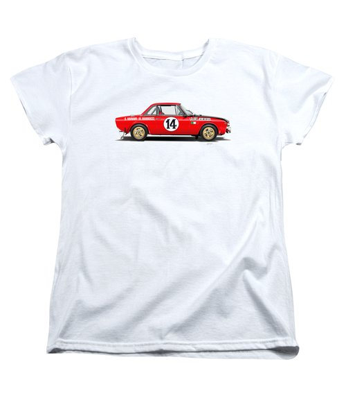 Lancia Fulvia Hf Illustration Women's T-Shirt (Standard Cut) by Alain Jamar