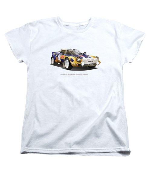 Lancia Stratos Hf Women's T-Shirt (Standard Cut) by Alain Jamar