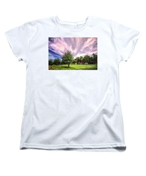 Women's T-Shirt (Standard Cut) featuring the photograph Landscape  by Charuhas Images