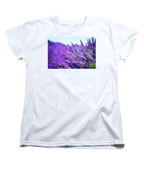 Lavender Field Women's T-Shirt (Standard Cut) by Anastasy Yarmolovich
