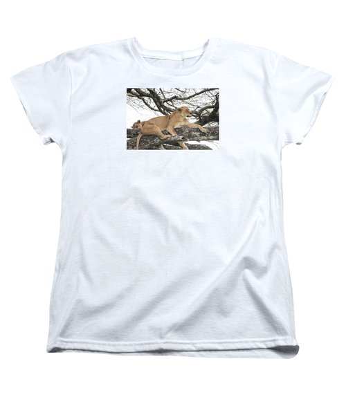 Lions In A Tree Women's T-Shirt (Standard Cut) by Pravine Chester
