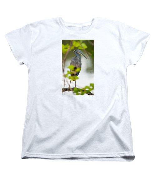 Women's T-Shirt (Standard Cut) featuring the photograph Little Blue Heron by Christopher Holmes