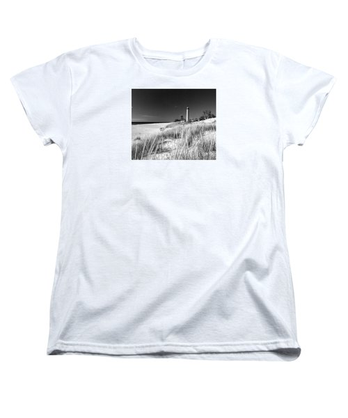 Women's T-Shirt (Standard Cut) featuring the photograph Little Sable Light Station - Film Scan by Larry Carr
