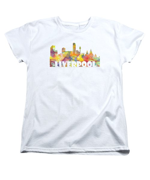Liverpool England Skyline Women's T-Shirt (Standard Fit)