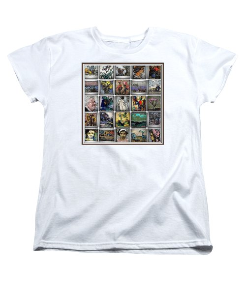 Women's T-Shirt (Standard Cut) featuring the mixed media Panorama Digital Graphics 1 by Pemaro