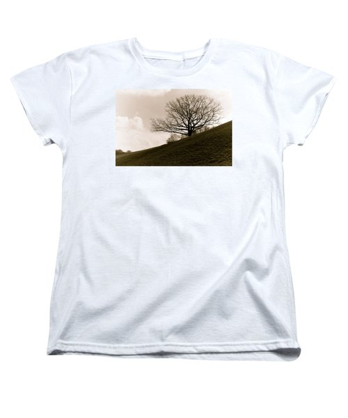 Women's T-Shirt (Standard Cut) featuring the photograph Lonely Tree by Sergey Simanovsky