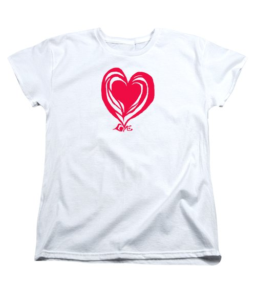 Love In Red Women's T-Shirt (Standard Cut) by Mary Armstrong