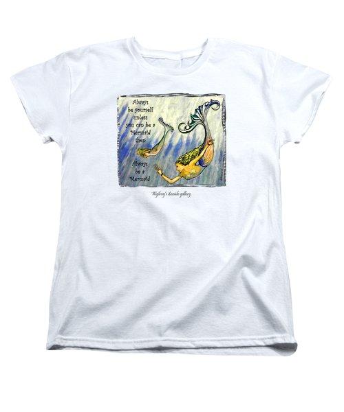 Mermaid Women's T-Shirt (Standard Cut) by W Gilroy