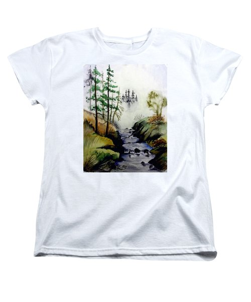 Misty Creek Women's T-Shirt (Standard Cut) by Jimmy Smith