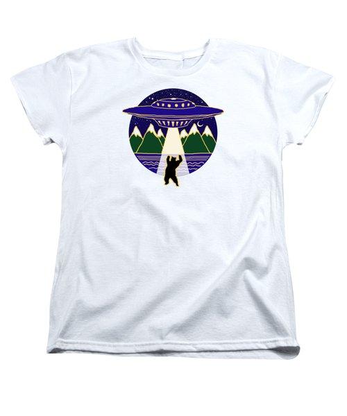 Mothership Takes Bear Women's T-Shirt (Standard Cut) by Holly Douglas