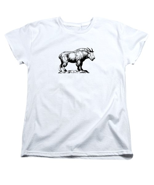 Mountain Goat Women's T-Shirt (Standard Cut) by Mordax Furittus