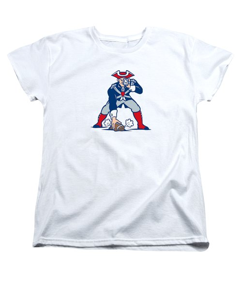 New England Patriots Parody Women's T-Shirt (Standard Cut) by Joe Hamilton