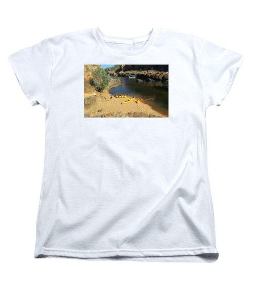 Nitmiluk Gorge Kayaks Women's T-Shirt (Standard Cut) by Tony Mathews