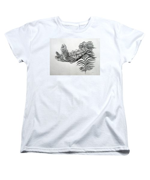 Women's T-Shirt (Standard Cut) featuring the drawing Norman by Mayhem Mediums