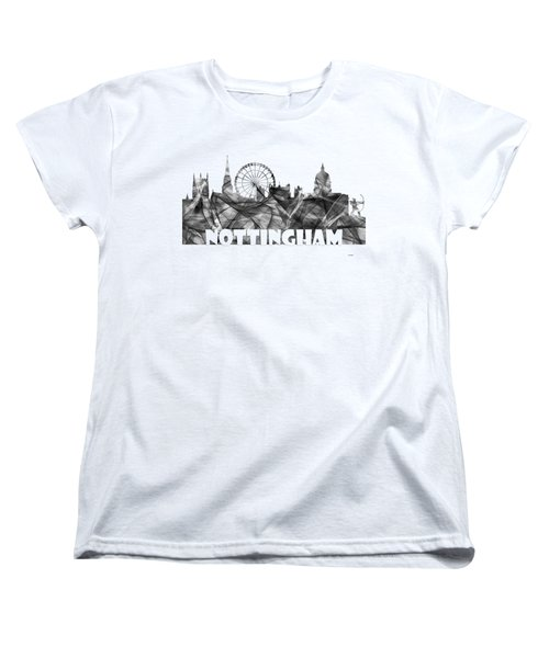 Nottingham England Skyline Women's T-Shirt (Standard Fit)