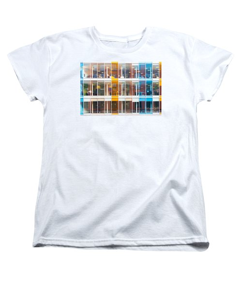 Women's T-Shirt (Standard Cut) featuring the photograph Office Windows by Colin Rayner