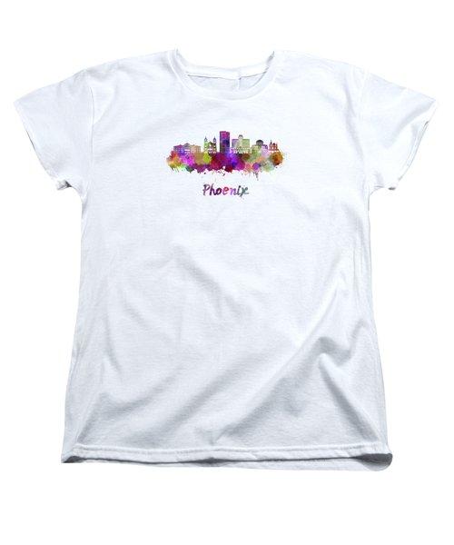 Phoenix Skyline In Watercolor Women's T-Shirt (Standard Cut)