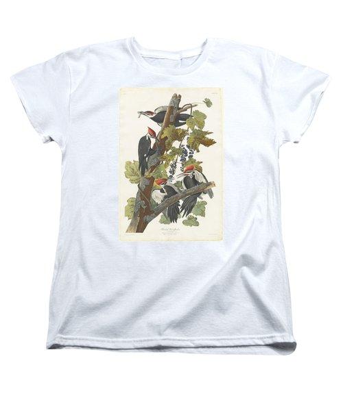 Pileated Woodpecker Women's T-Shirt (Standard Cut) by John James Audubon