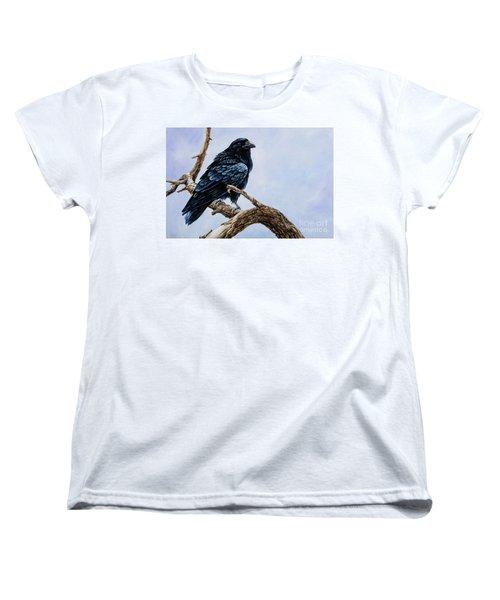 Women's T-Shirt (Standard Cut) featuring the painting Raven by Igor Postash