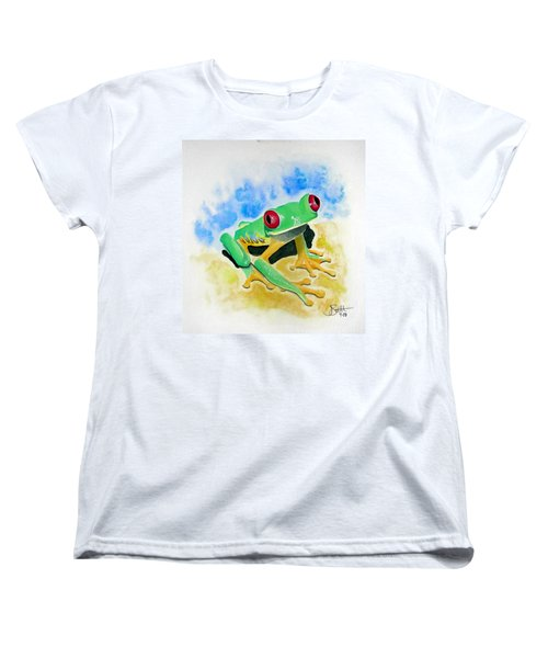 Red Eyed Tree Frog Women's T-Shirt (Standard Cut) by Jimmy Smith