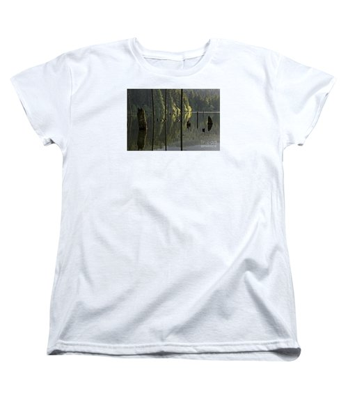 Women's T-Shirt (Standard Cut) featuring the photograph Reflections by Inge Riis McDonald