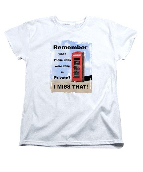 Women's T-Shirt (Standard Cut) featuring the photograph Remember When . . . by Mike McGlothlen