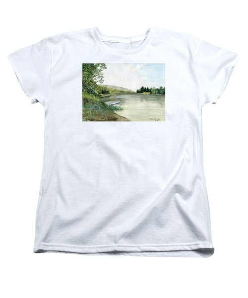 Women's T-Shirt (Standard Cut) featuring the painting River Light by Melly Terpening