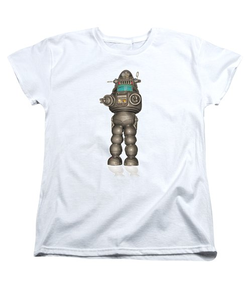 Robby The Robot Women's T-Shirt (Standard Cut) by Gary Warnimont
