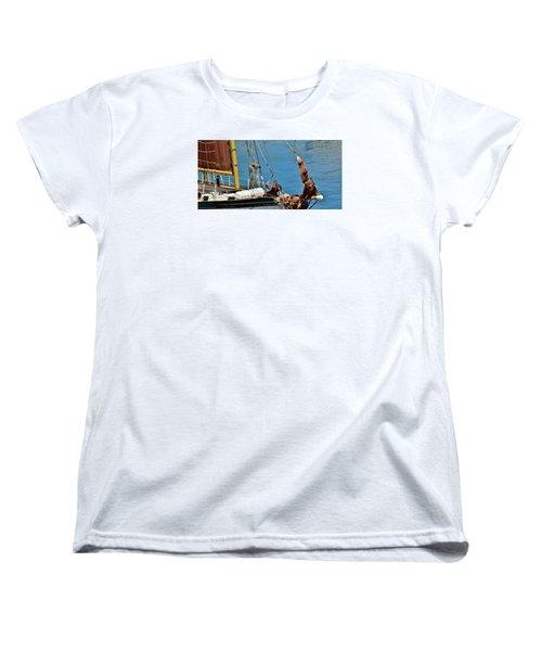 Sail Boat Women's T-Shirt (Standard Cut) by Werner Lehmann