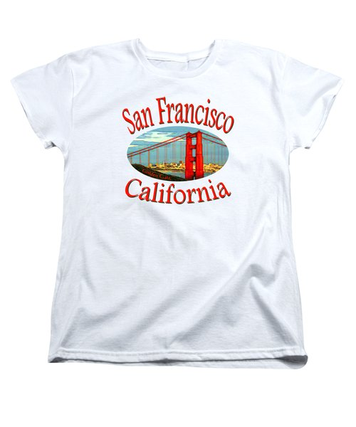 San Francisco California - Tshirt Design Women's T-Shirt (Standard Cut) by Art America Gallery Peter Potter