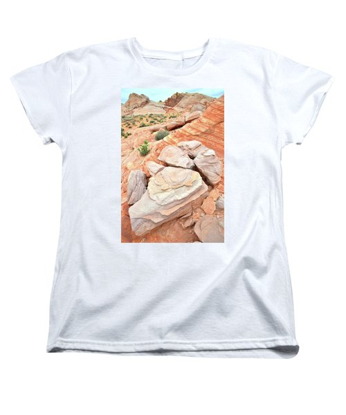 Women's T-Shirt (Standard Cut) featuring the photograph Sandstone Cove In Valley Of Fire by Ray Mathis