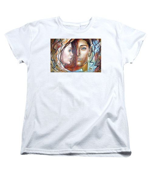 Women's T-Shirt (Standard Cut) featuring the painting She Loves Me 140709 by Selena Boron
