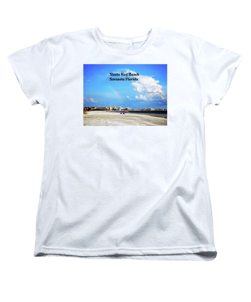 Women's T-Shirt (Standard Cut) featuring the photograph Siesta Beach by Gary Wonning