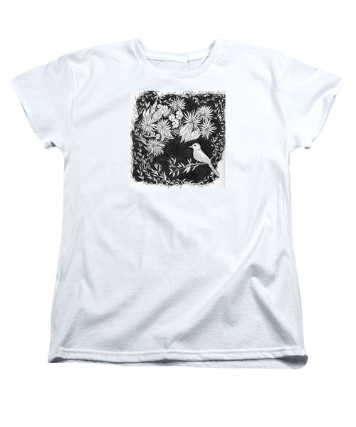 Women's T-Shirt (Standard Cut) featuring the painting Sitting Pretty by Lou Belcher
