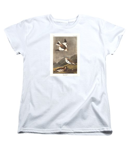 Snow Bunting Women's T-Shirt (Standard Cut) by Dreyer Wildlife Print Collections