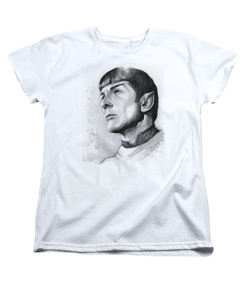 Spock Portrait Women's T-Shirt (Standard Cut) by Olga Shvartsur