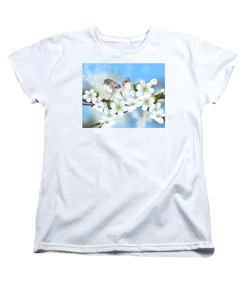 Women's T-Shirt (Standard Cut) featuring the painting Spring Fever by Veronica Minozzi