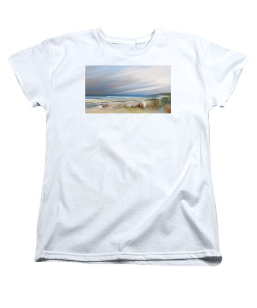 Storm Over Beach Women's T-Shirt (Standard Cut) by Anthony Fishburne