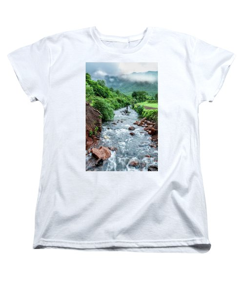 Women's T-Shirt (Standard Cut) featuring the photograph Stream by Charuhas Images