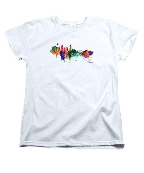 Sydney Watercolor Skyline  Women's T-Shirt (Standard Fit)