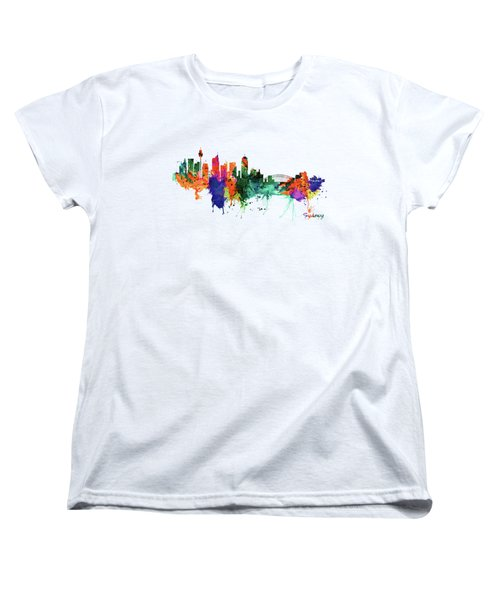 Sydney Watercolor Skyline  Women's T-Shirt (Standard Fit)