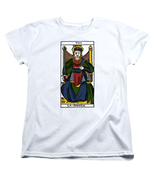 Tarot Card Justice Women's T-Shirt (Standard Cut) by Granger