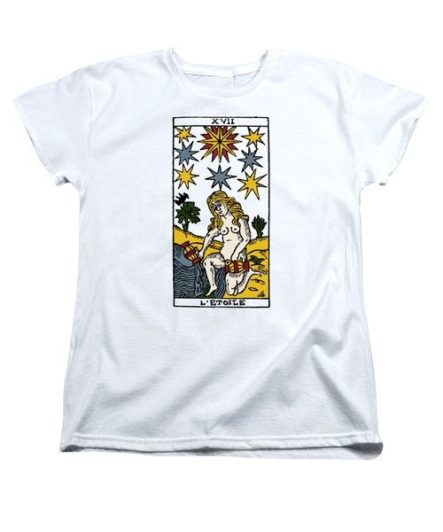 Tarot Card The Stars Women's T-Shirt (Standard Cut) by Granger