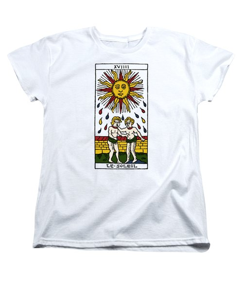 Tarot Card The Sun Women's T-Shirt (Standard Cut) by Granger