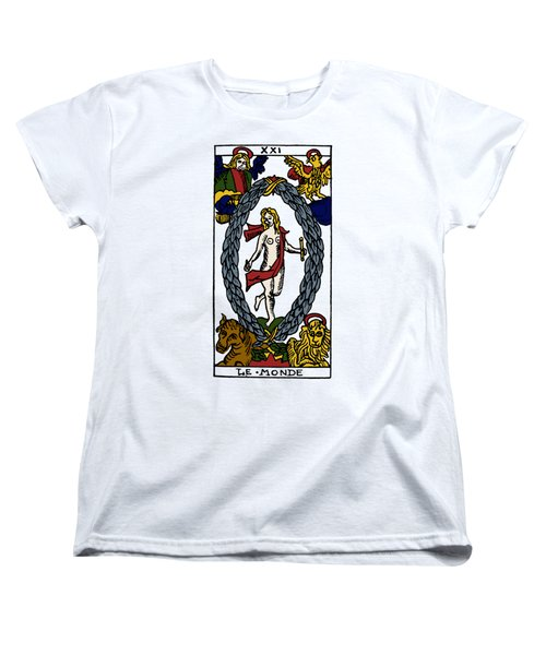 Tarot Card The World Women's T-Shirt (Standard Cut) by Granger