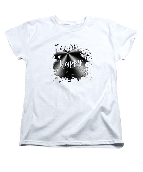 Text Art Happy Women's T-Shirt (Standard Fit)